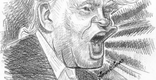 Pencil Sketch of President Donald Trump