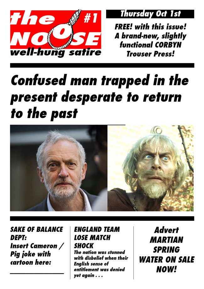 Topical Cartoons and Satire Magazines Noose Corbyn