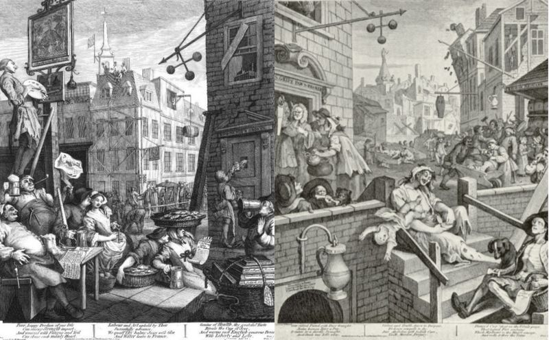 William Hogarth topical cartoon illustration