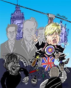 Caricature of Boris Johnson for Total Politics