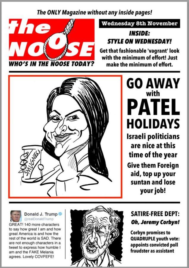 Topical Satire Priti Patel Donald Trump Jeremy Corbyn