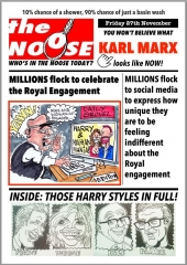 Topical Satire Harry and Meghan Royal Engagement