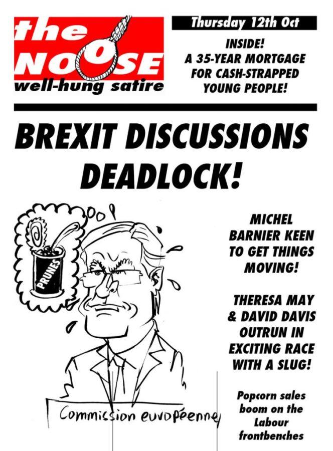 Topical Satire Brexit Michel Barnier