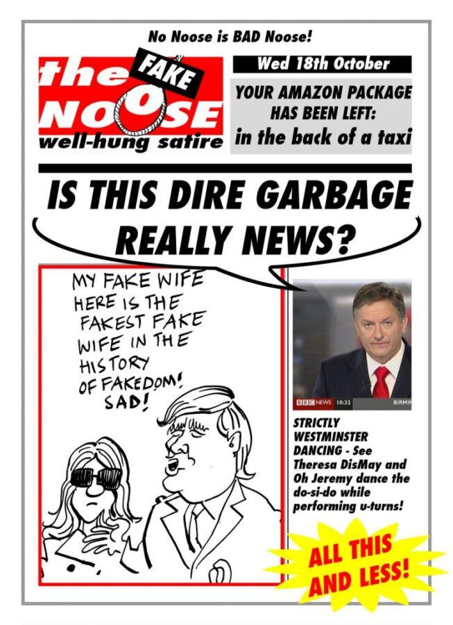 Topical Satire Donald and Melania Trump Simon McCoy News