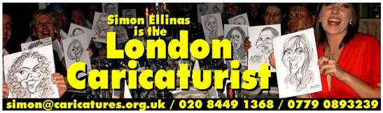 Cartoonist in London Caricaturist