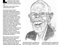 Best Caricaturist caricature of Bob Harris in Magazine