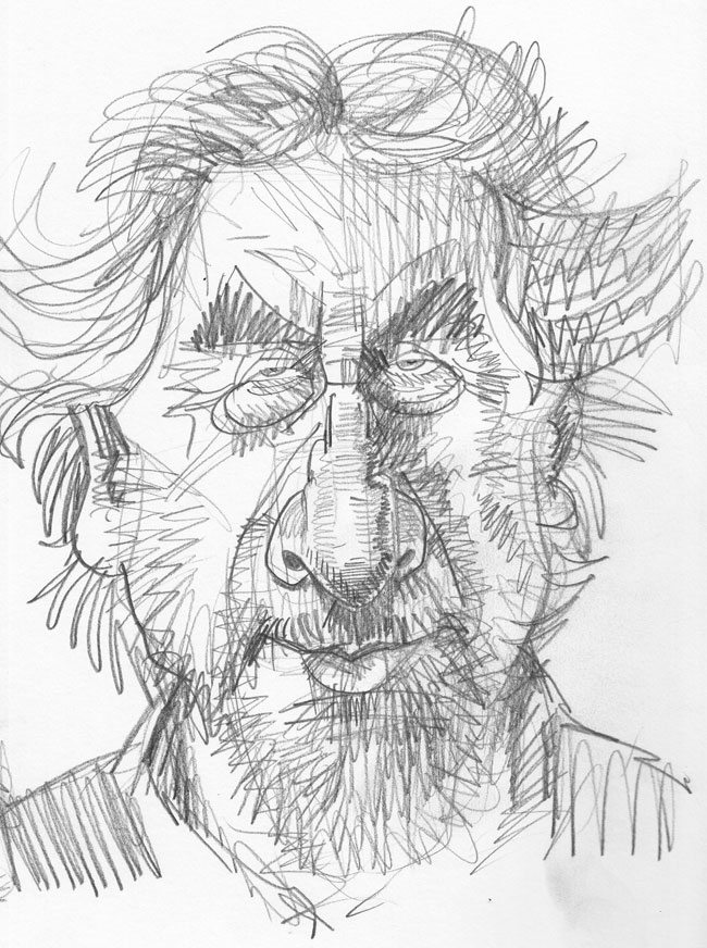 Caricature Pencil Sketch of Howard Jacobson