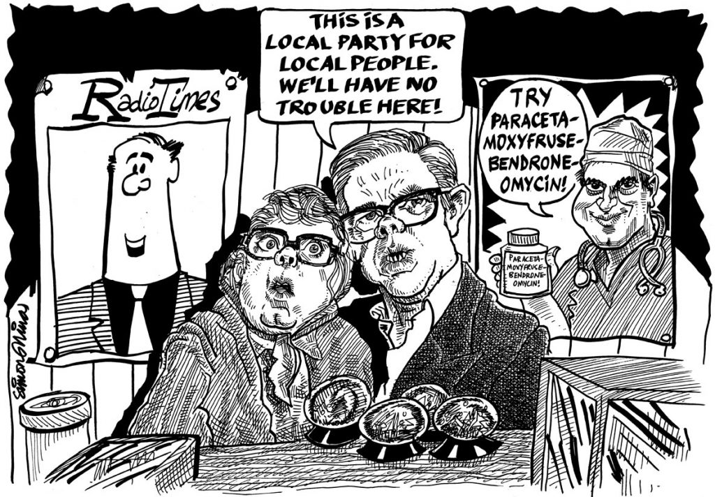 Caricature Cartoon of League of Gentlemen
