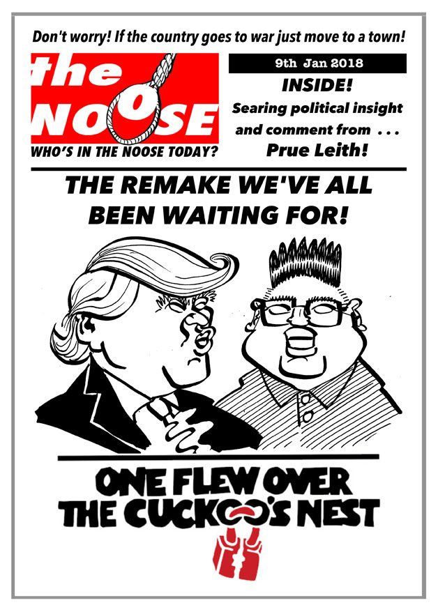 Cartoon satire spoof magazine cover