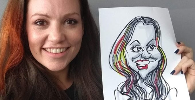 Caricature-at-corporate-event by Caricaturist in London