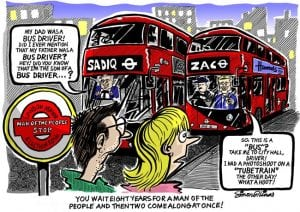 Topical Cartoon about London Mayor Election