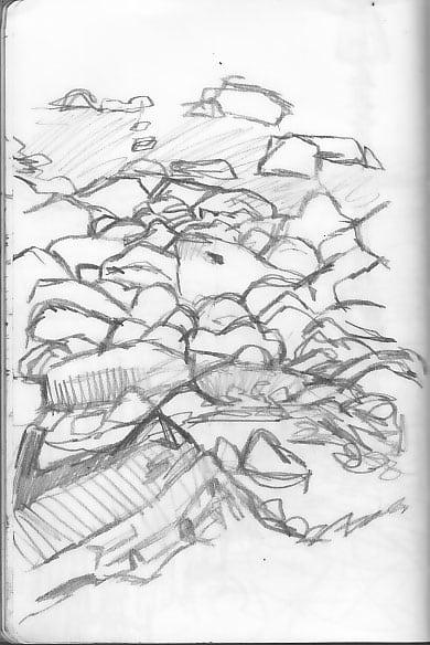 Beach-Sketch By Caricaturist in london