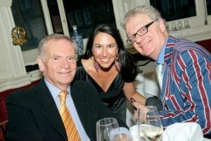 Caricaturist Simon Ellinas with Jeffrey Archer