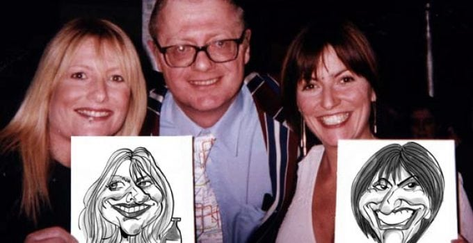 Live Caricatures of Gabby Roslin and Davina McCall