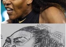 Caricatures of Serena Williams