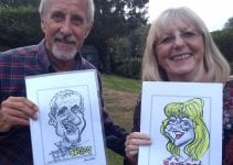 Caricatures at party in Kent by Caricaturist in London