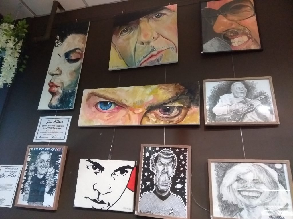 Exhibition of Oil Painting Portraits at Bel Gelato