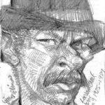 Caricature Pencil Sketch of Lee Van Cleef