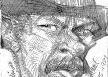 Caricature Pencil Sketch of Lee Van Cleef