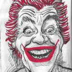 Caricature of Cesar Romero The Joker from Batman
