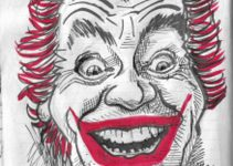 Caricature of Cesar Romero The Joker from Batman