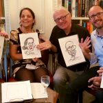 On the spot caricatures at the Army and Navy Club in London