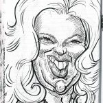 Caricature of Diana Dors