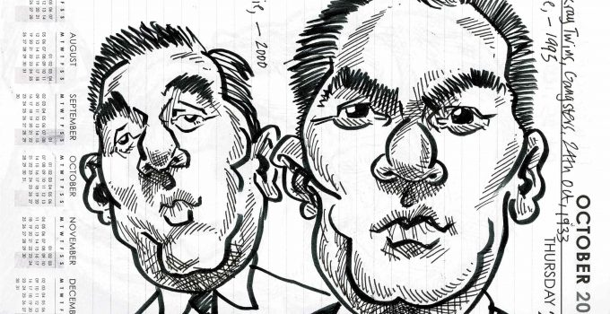 Caricature of The Kray Twins