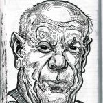 Caricature of Pablo Picasso