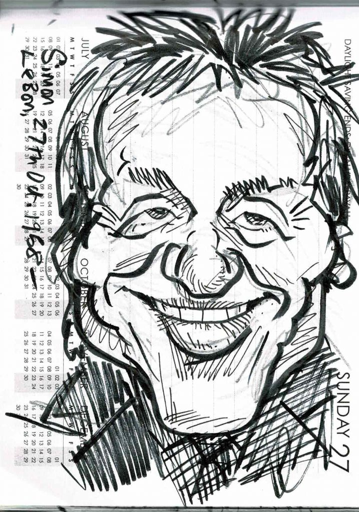 Caricature of Simon Le Bon