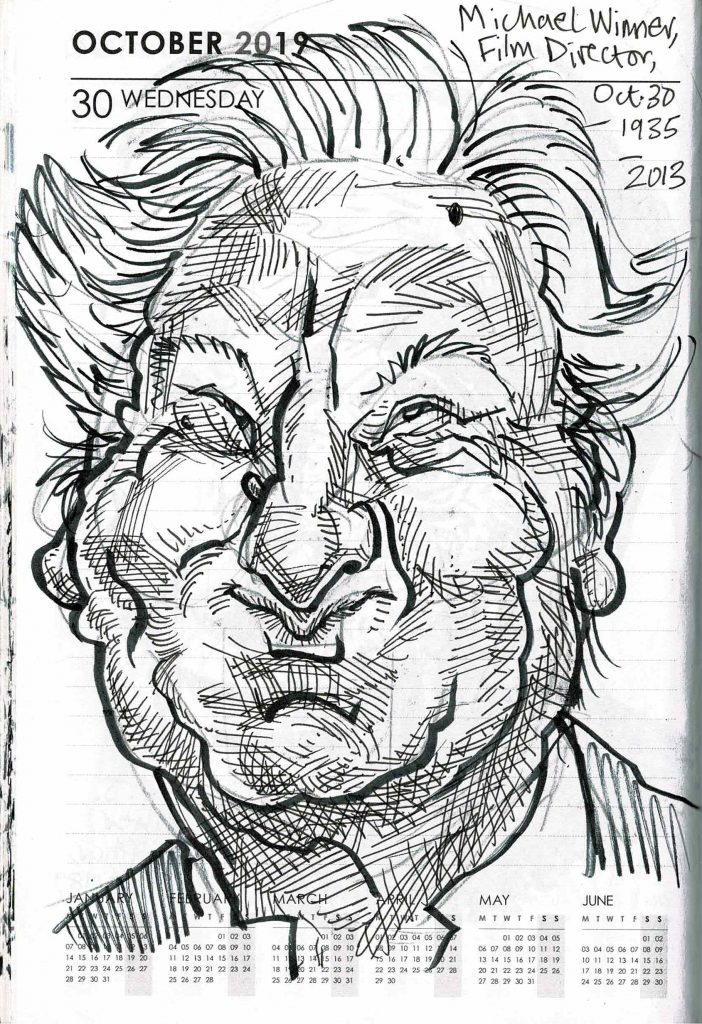 Caricature of Michael Winner