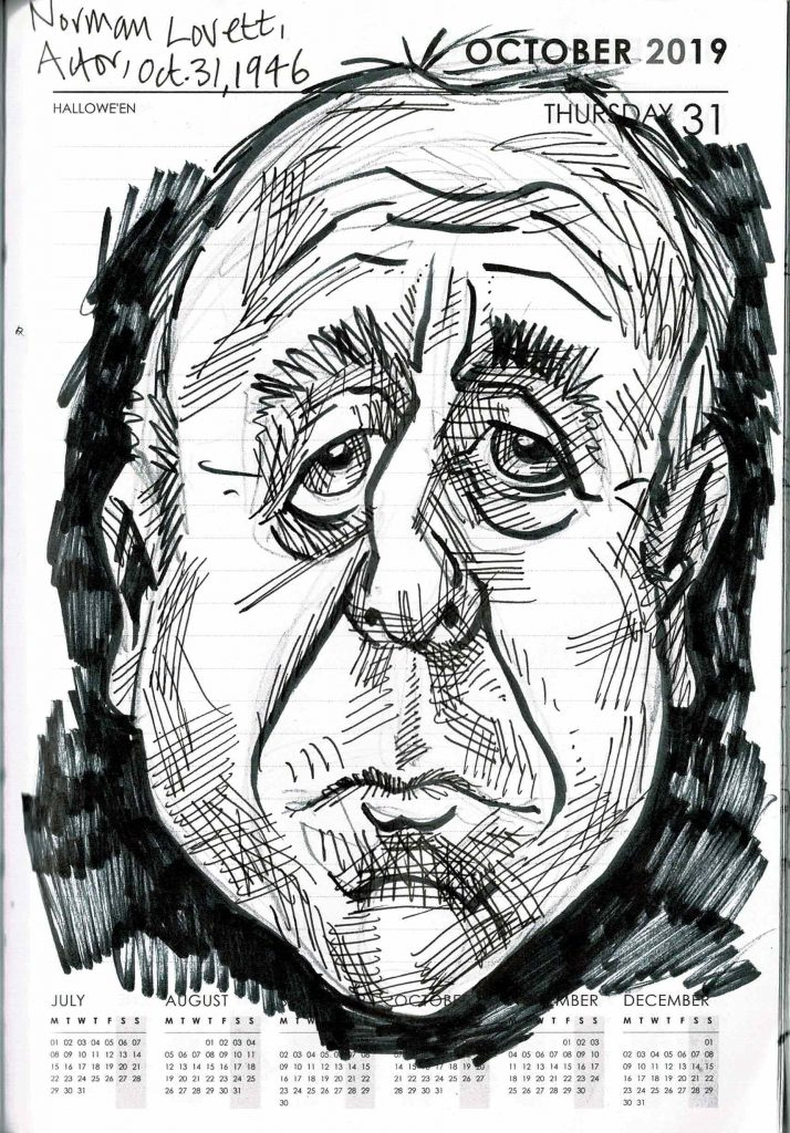 Caricature of Norman Lovett