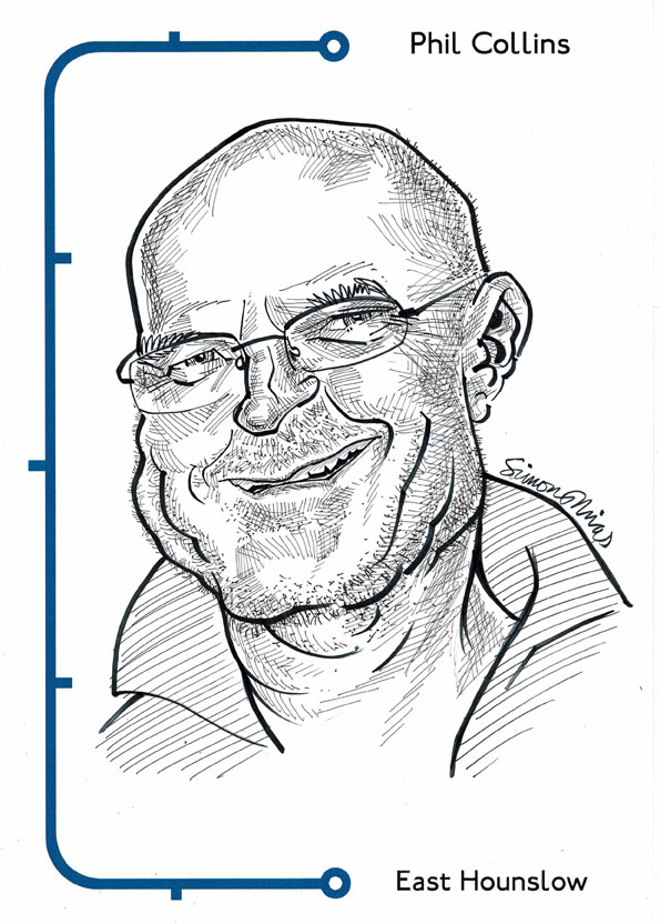Caricature of Phil Collins