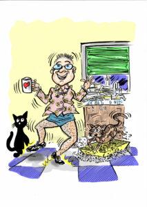 Cartoon Illustration for Letting Go Poem