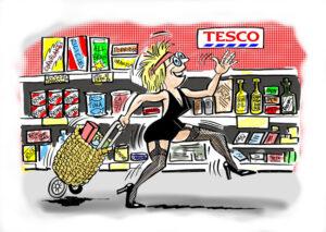 Cartoon Illustration for Trolley Dolly Poem