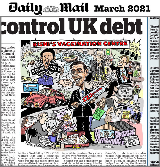 Cartoon Illustration for the Daily Mail Newspaper