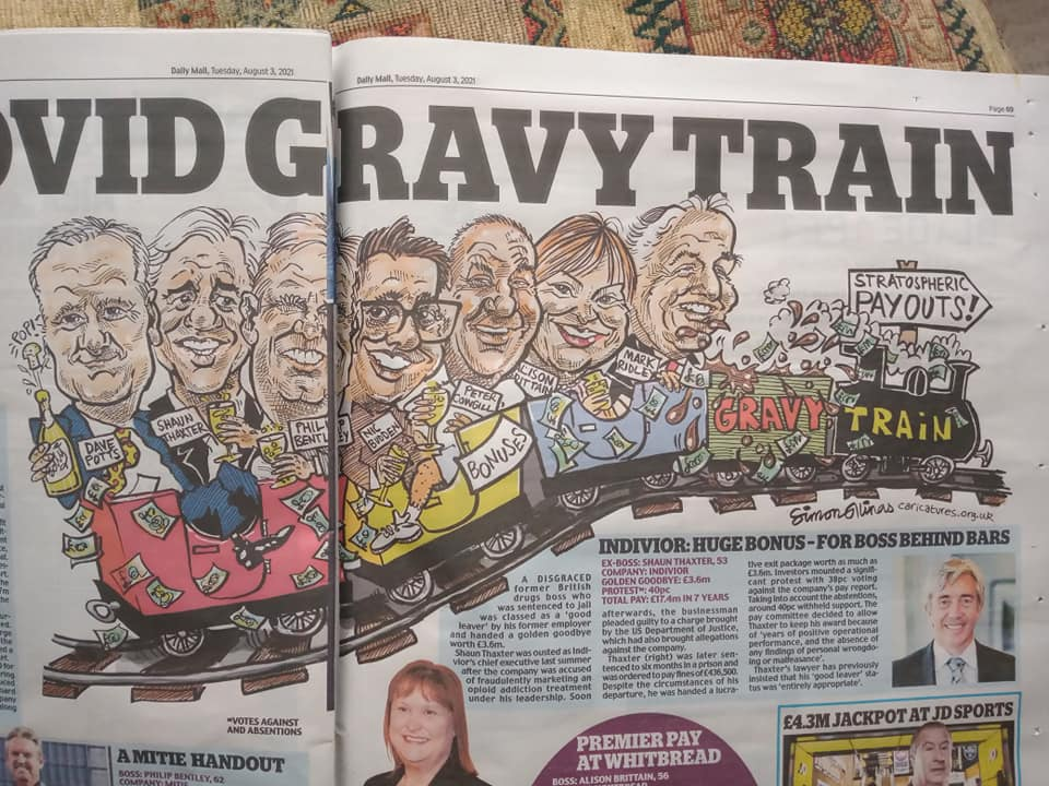 Cartoon Illustration in The Daily Mail Newspaper